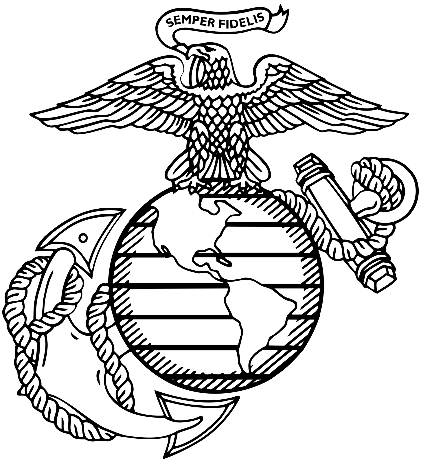 px globeanchor svg. Usmc drawing pencil png library stock