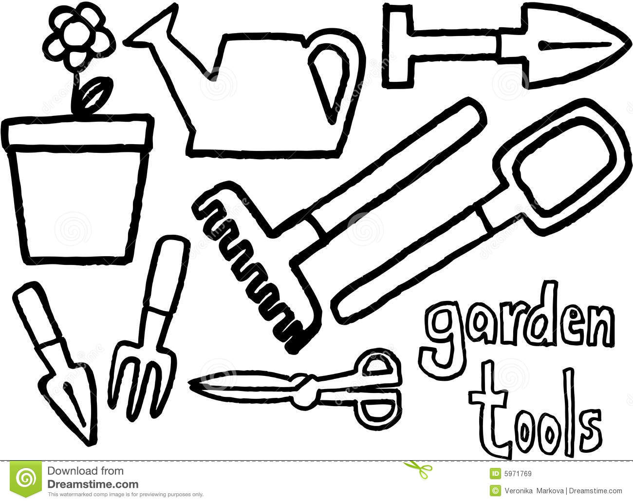 Utensils clipart colouring page. Coloring pages tools images
