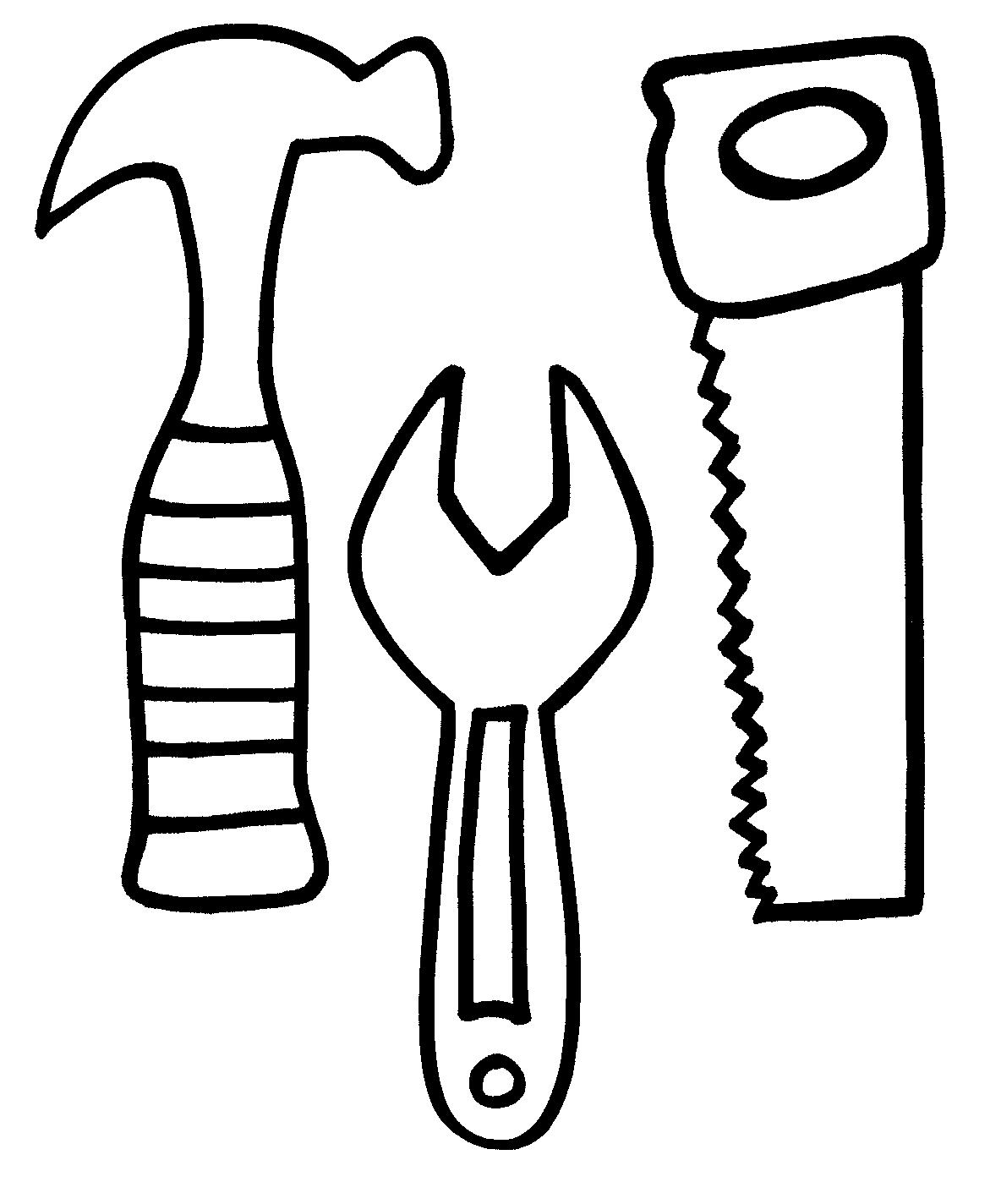 Utensils clipart colouring page. Doctor tools drawing at