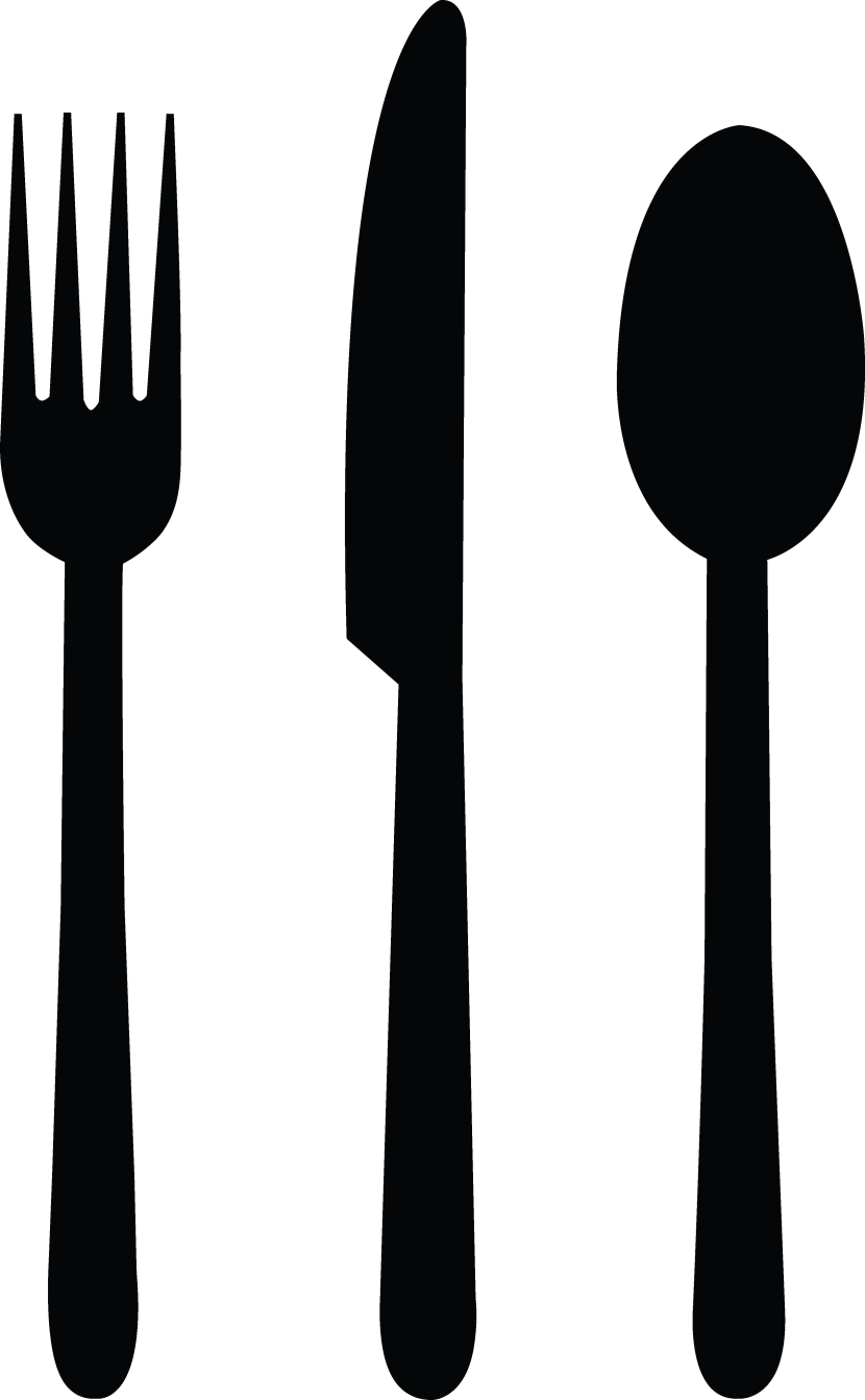 Utensils vector black and white. Fork spoon clipart great