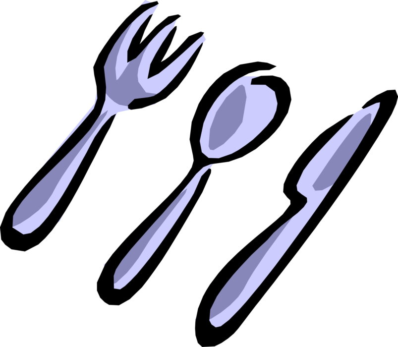 Utensils vector knife fork. And spoon cutlery image