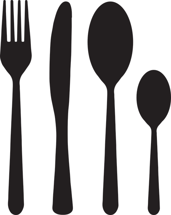Utensils vector spoon fork. Group with items free