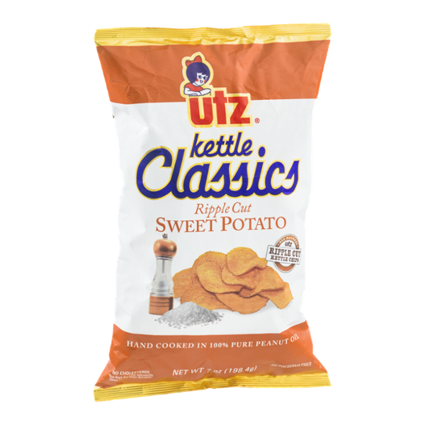 Utz chips png. Kettle classics ripple cut