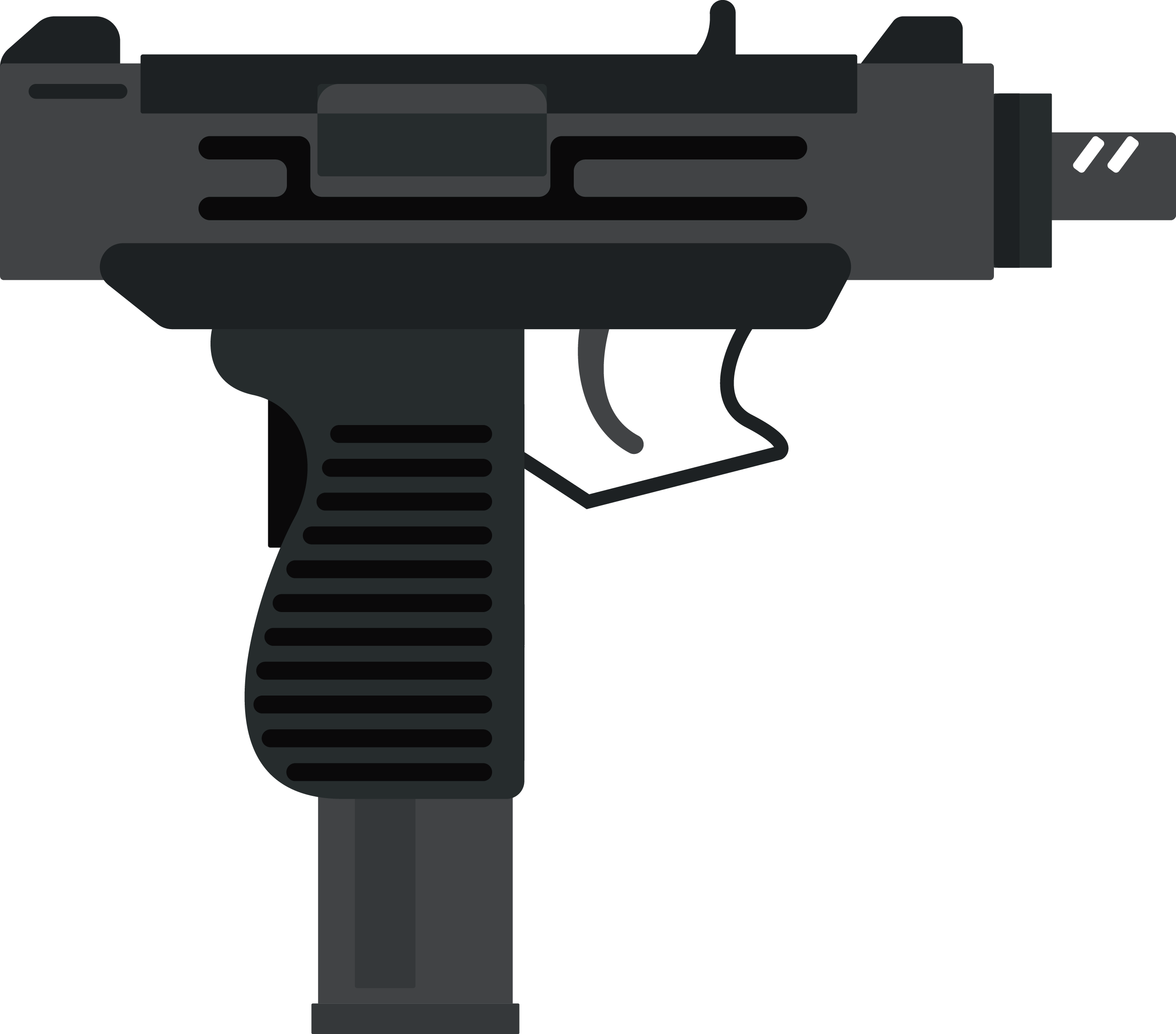 Weapon clip. Uzi royalty free art