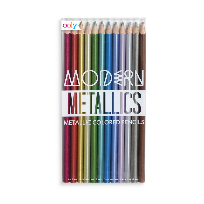 V drawing colored pencil. Modern metallics pencils ooly