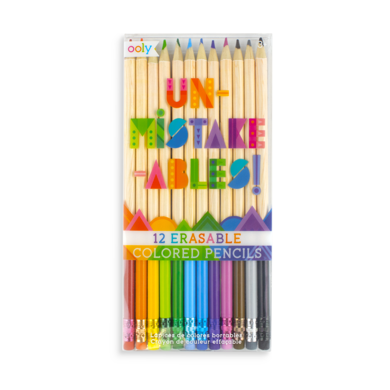 Crayons transparent totally. Unmistakeables erasable colored pencils