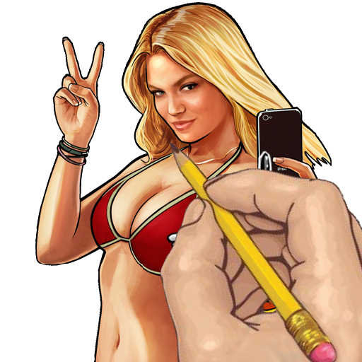 How to draw gta. V drawing female png transparent library