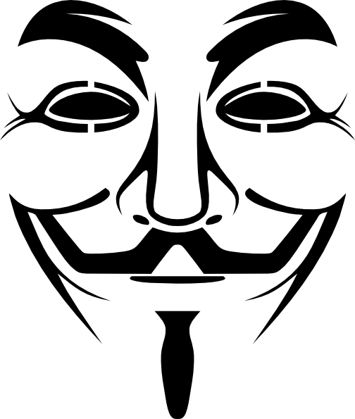 V drawing for vendetta. Guy fawkes mask clip