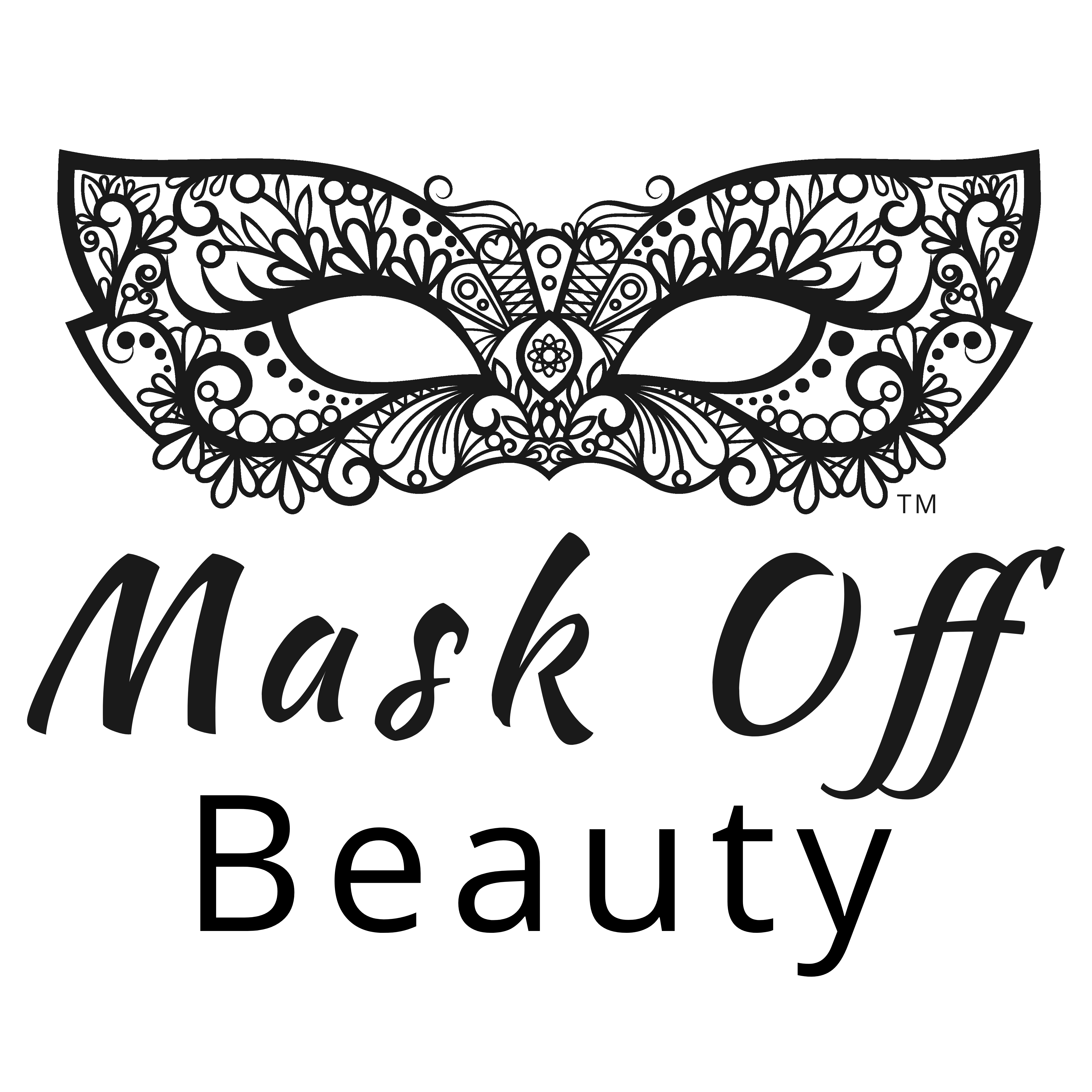 V drawing mask. Boutique skincare off beauty