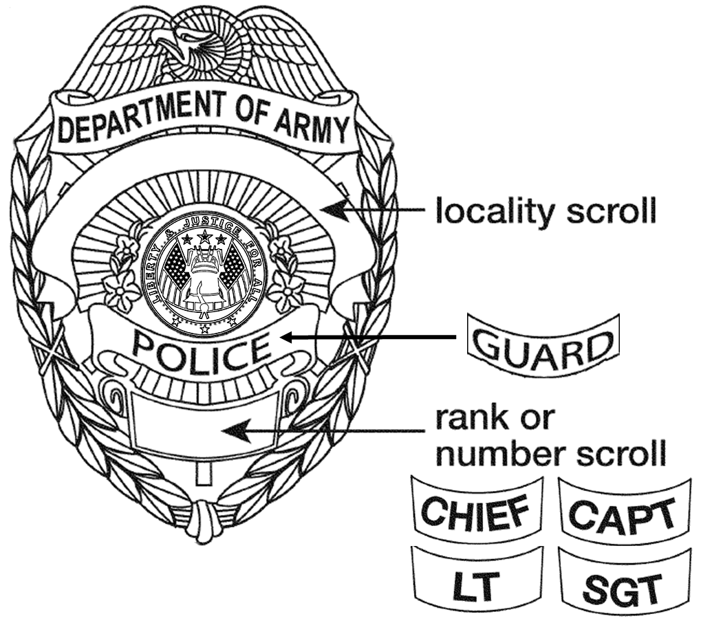 V drawing police. Department of the army