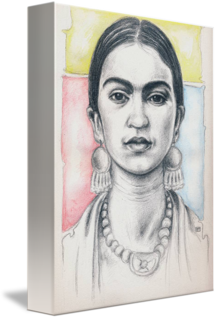 Portraits drawing simple. Frida kahlo portrait by