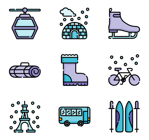 Traveler vector plane. Travel icons free winter