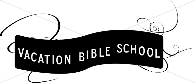 Vacation clipart word. Black and white vbs
