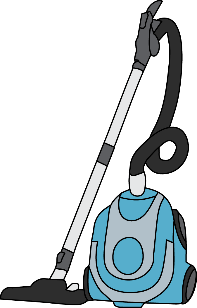 Clean vector vacuum cleaner. Clipart