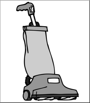 Vacuum clipart. Clip art cleaner grayscale