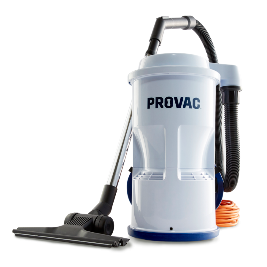 Vacuum transparent commercial. Backpack cleaner provac