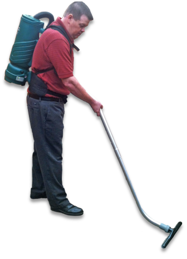 Vacuum transparent janitor. Speed up your vacuuming
