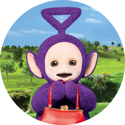 Vacuum transparent teletubbies. About tinky winky
