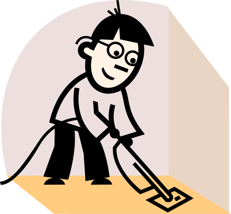 Vacuuming clipart dirt. Cleaning service maid vacuums