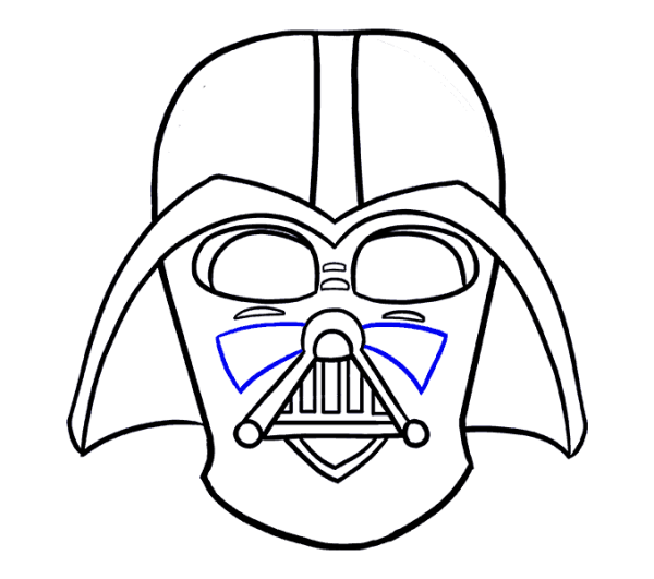 Dynamite drawing easy. Darth vader how to
