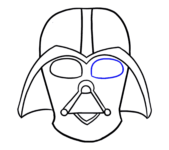How to draw in. Darth vader clipart step by step svg transparent