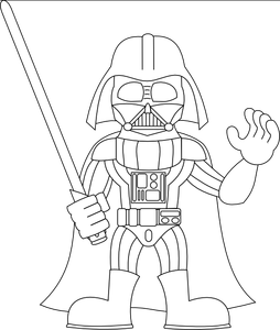 Vader drawing. Darth clipart huge