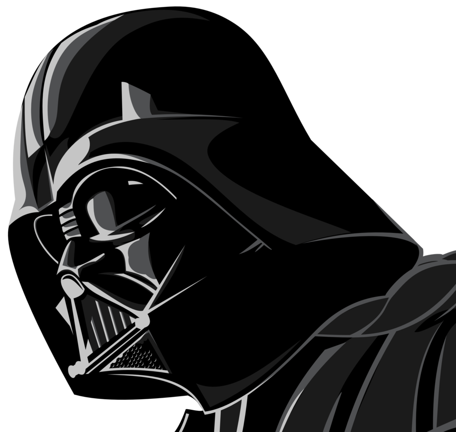 By up ter on. Darth vader clipart clip art vector black and white download