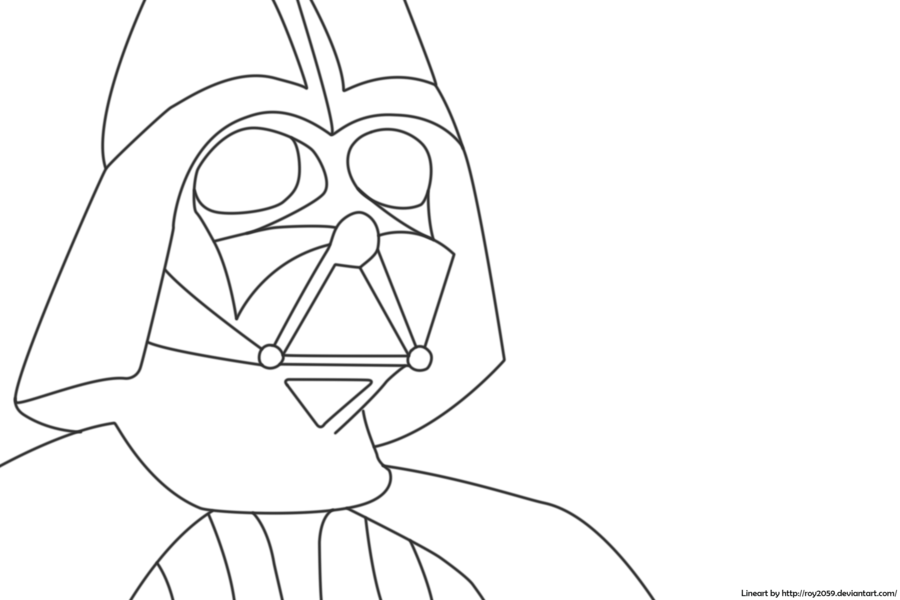 Vader drawing line. Collection of darth