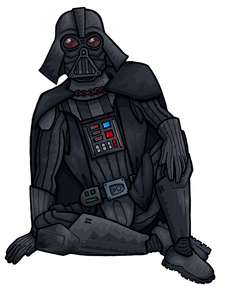 Vader drawing sci fi. Darth chilling by janimutikainen