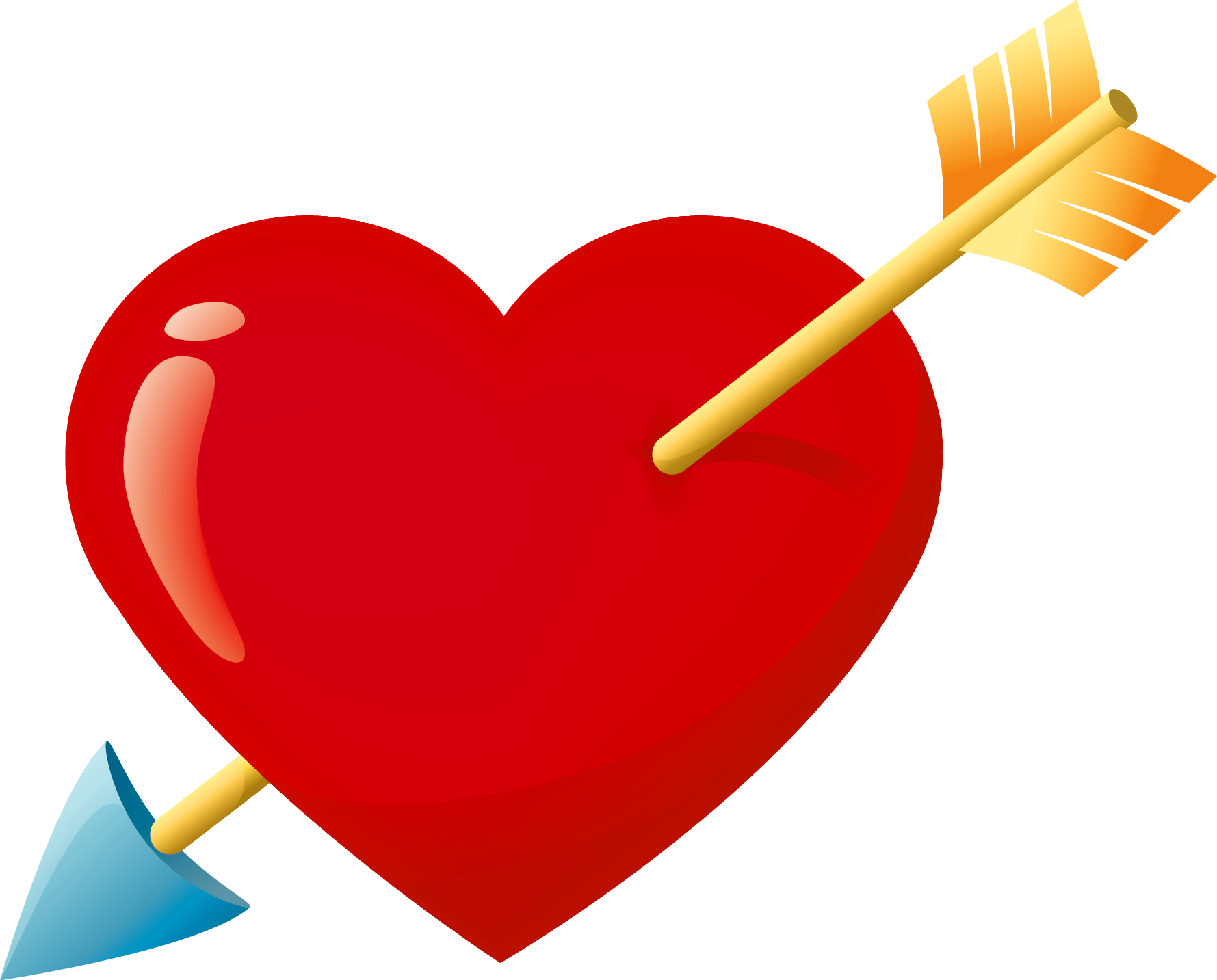 Valentine arrow png. Red heart with clipart