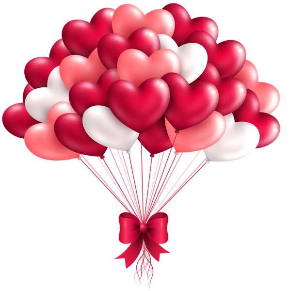 Valentines day clipart png. Beautiful heart balloons image