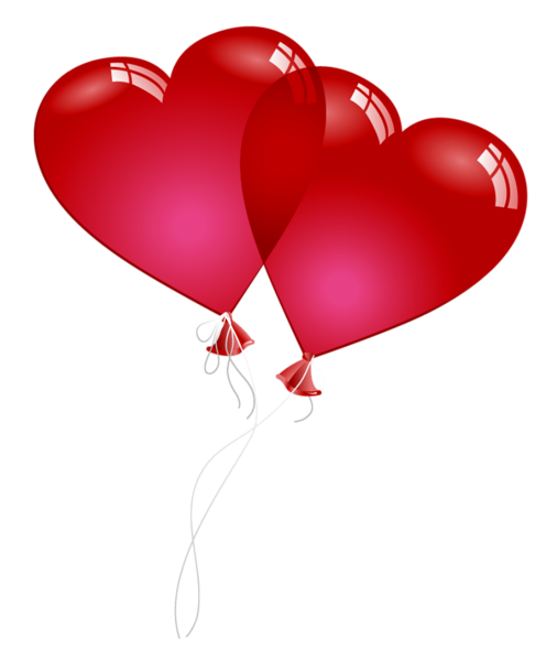 Valentine balloons png. Red heart baloons clipart