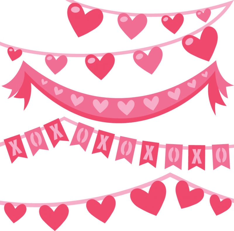 Valentine banner png. Banners svg cut files