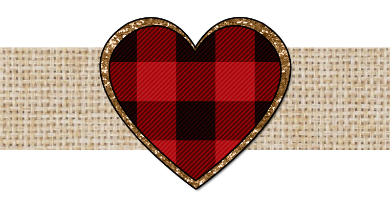 Valentine banner png. Plaid heart the cutest