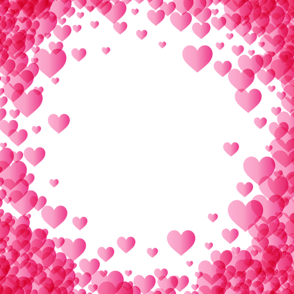 pink heart frame png
