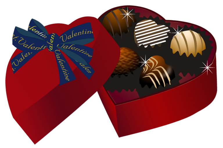 Valentine chocolate box png. Red heart clipart gallery