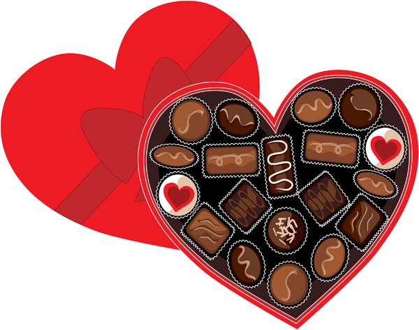 Valentine chocolate png. Valentines day clipart