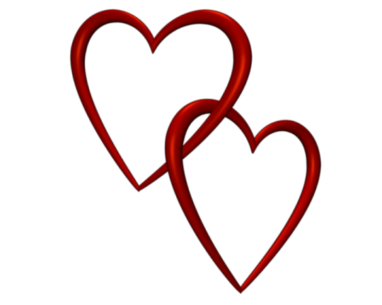 Valentine clip art clear png. Entangled red love hearts