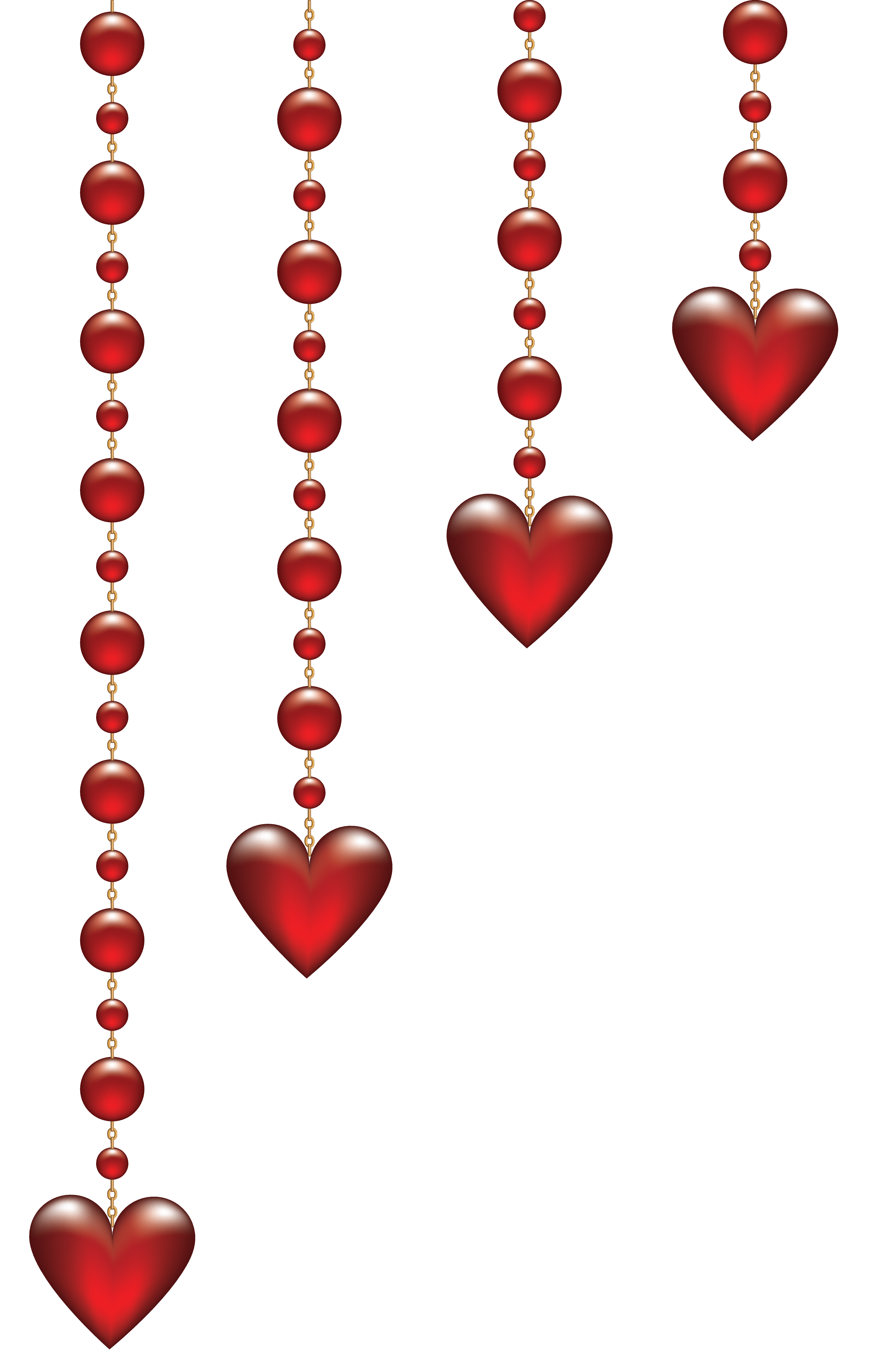 Valentine clipart transparent. S day hanging hearts
