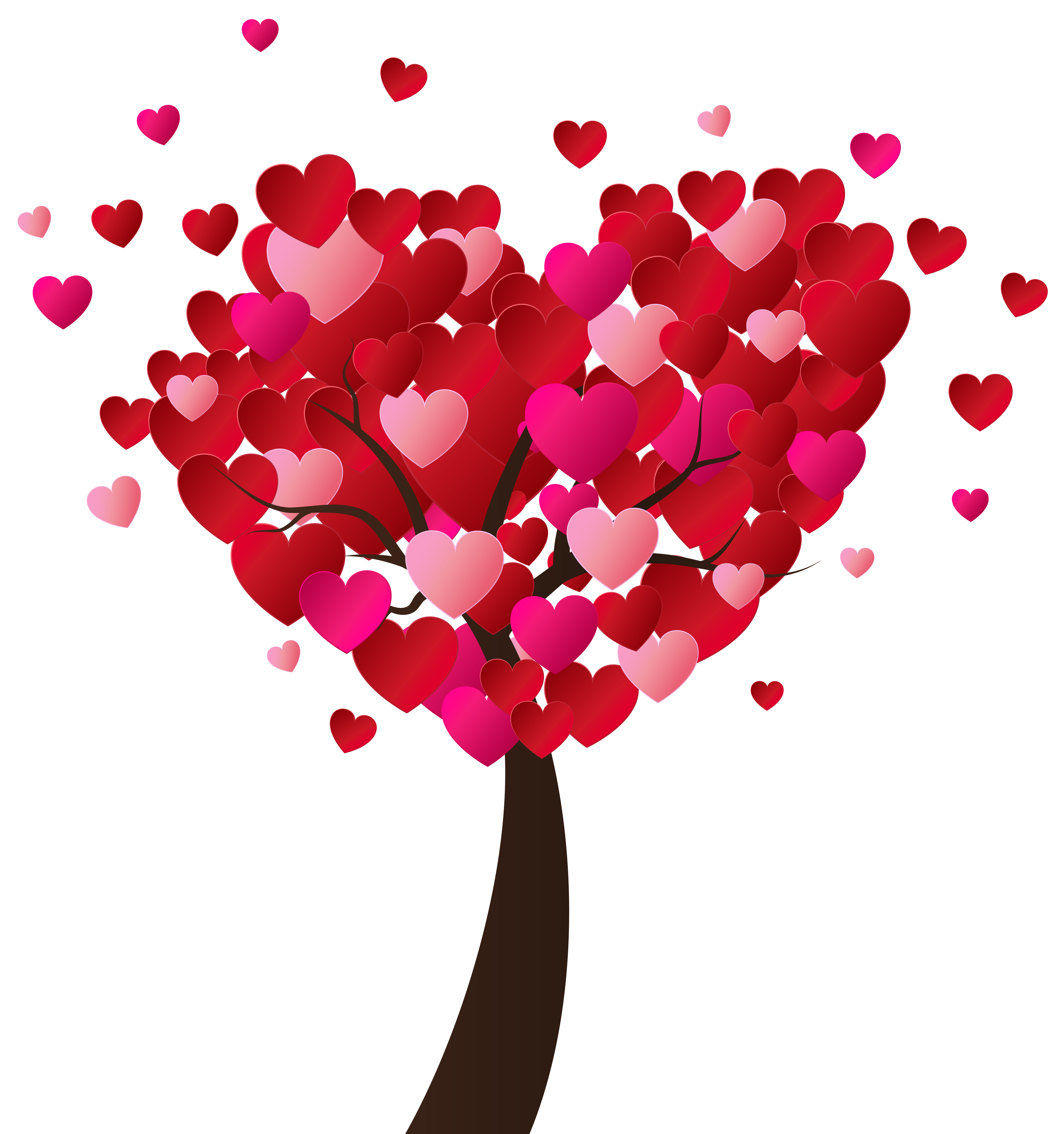 Valentine s day tree. Heart clipart plant svg transparent stock