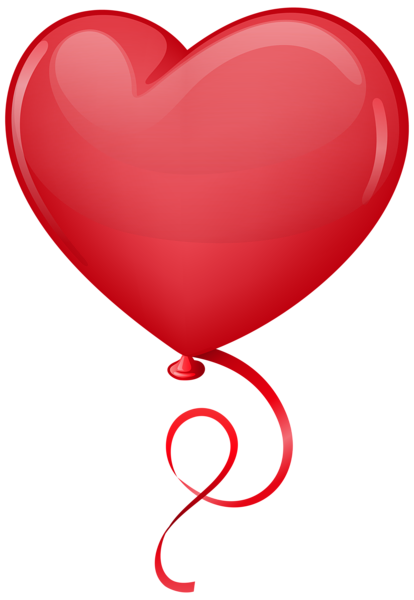 Ballon drawing love balloon. Red heart clip art