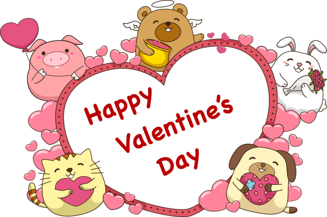 Valentine clipart cute. Animal banner free stock