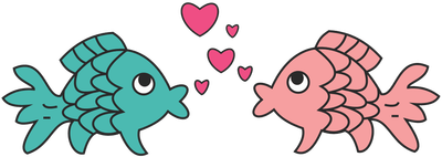 Valentine clipart fish. Cute s day clip