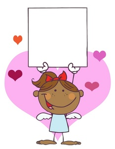 Valentine clipart message. Free image black african