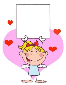 Valentine clipart message. Free image girl angel