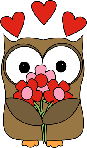 Valentine clipart owl. S day cards pinte