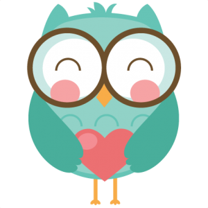 Valentine clipart owl. Free svg cutters file