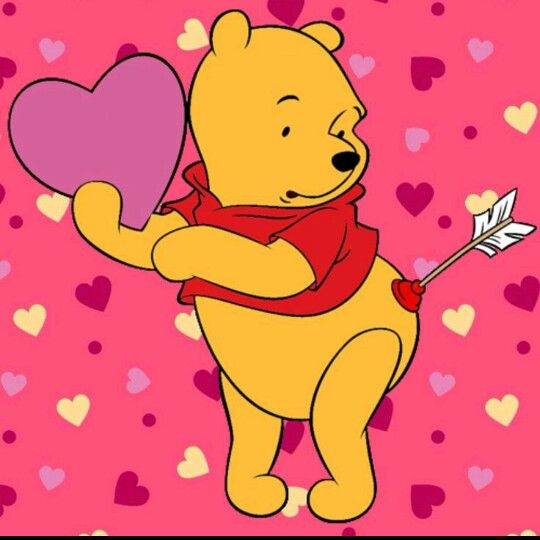 Valentine clipart pooh. Bear s day pinterest
