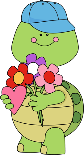 Valentine clipart turtle. Cute s day with