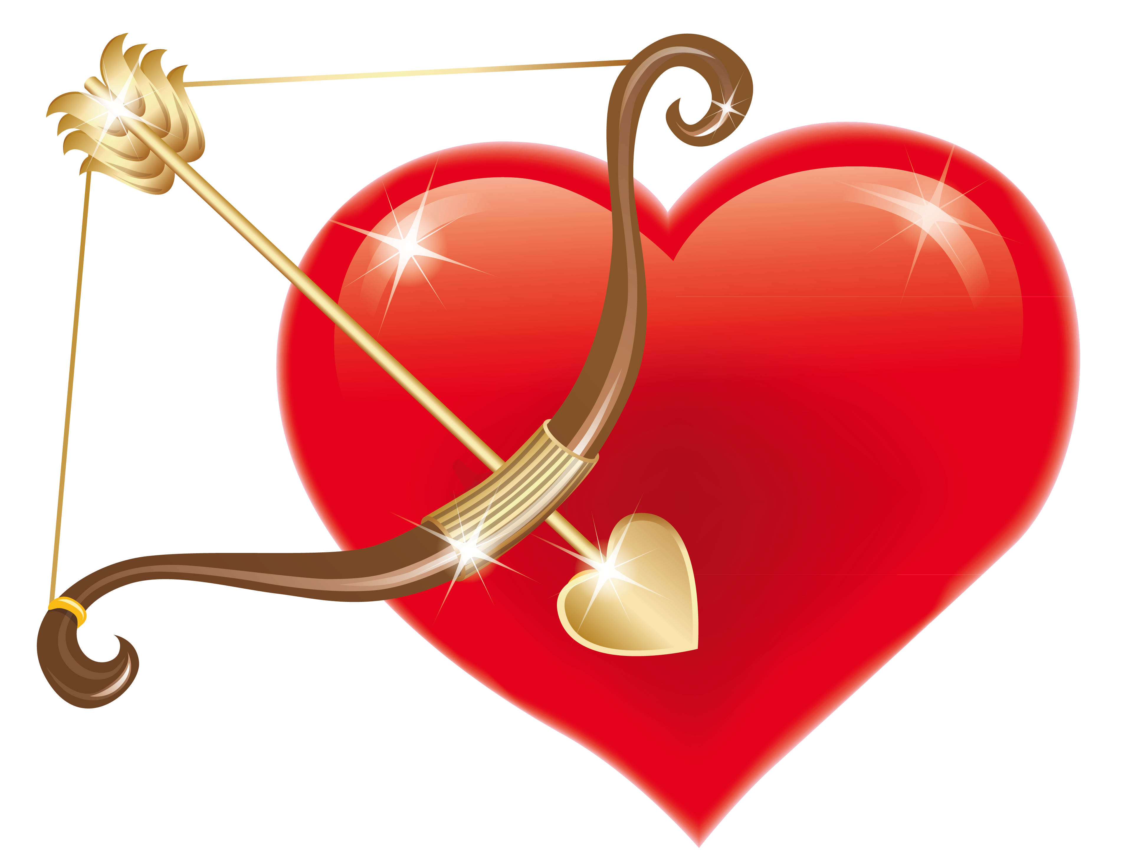 Valentine decorations png. Red heart with cupid